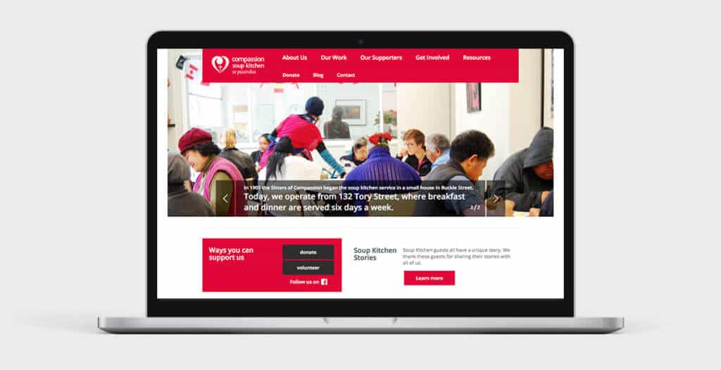 Compassion website design