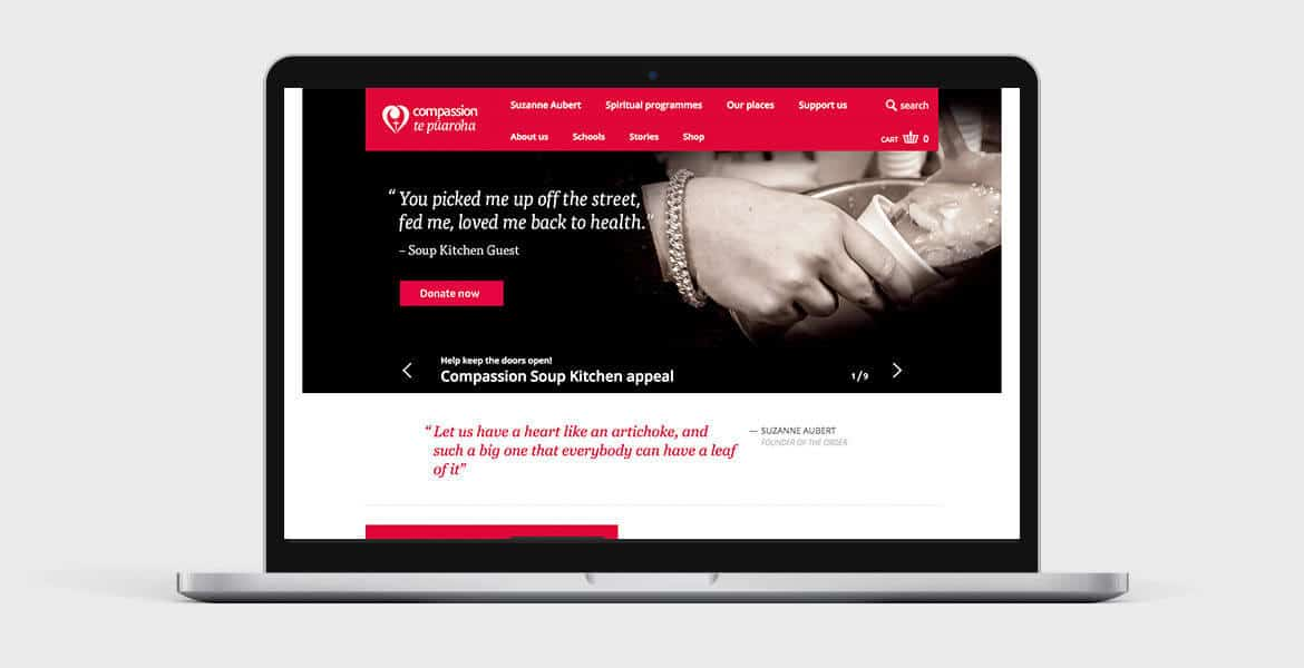New design for Compassion website