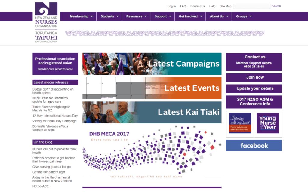 NZNO website