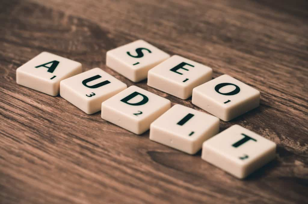 SEO Audit Scrabble Pieces