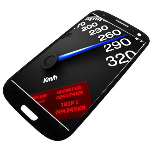 speedometer on mobile screen